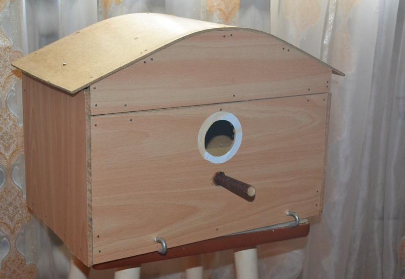 Гнездовой домик для волнистых попугаев