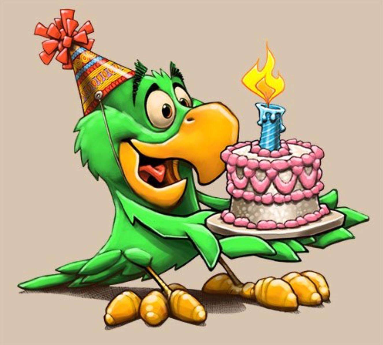 Открытки с днем рождения анимационные мультфильмы