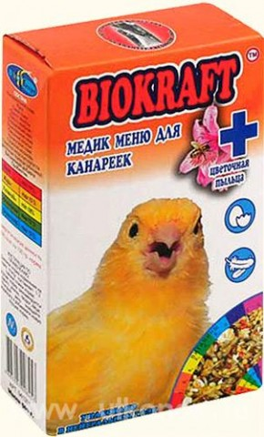 Biokraft медик меню для канареек - Biokraft medik menju dlja kanareek.jpg