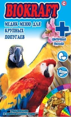 Biokraft медик меню для  крупных попугаев - Biokraft medik menju dlja krupnyh popugaev.jpg