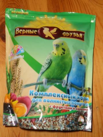 Комплексный корм для волнистых попугаев Верные друзья. - Верные друзья.jpg