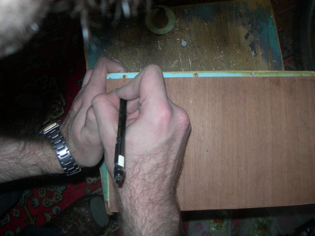 Делаем разметку карандашом. - Домик (15).JPG