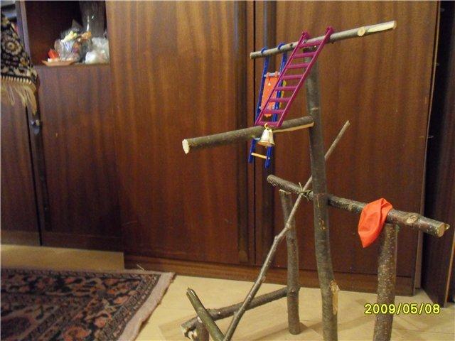 Как сделать игрушки для волнистого попугая своими руками фото 76